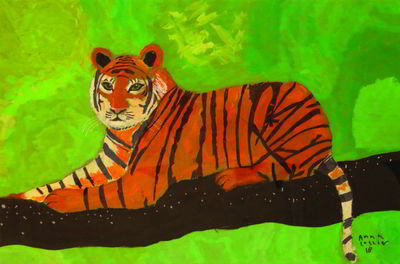 Tiger by Artbox student Anna Collier