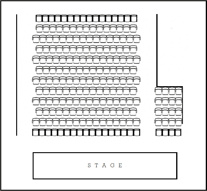 Plan of new seating arrangement at The Cut theatre
